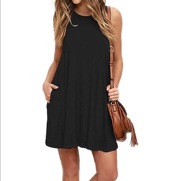 Mitto Shop Bamboo Fiber Knit Sleeveless T-Shirt Dress